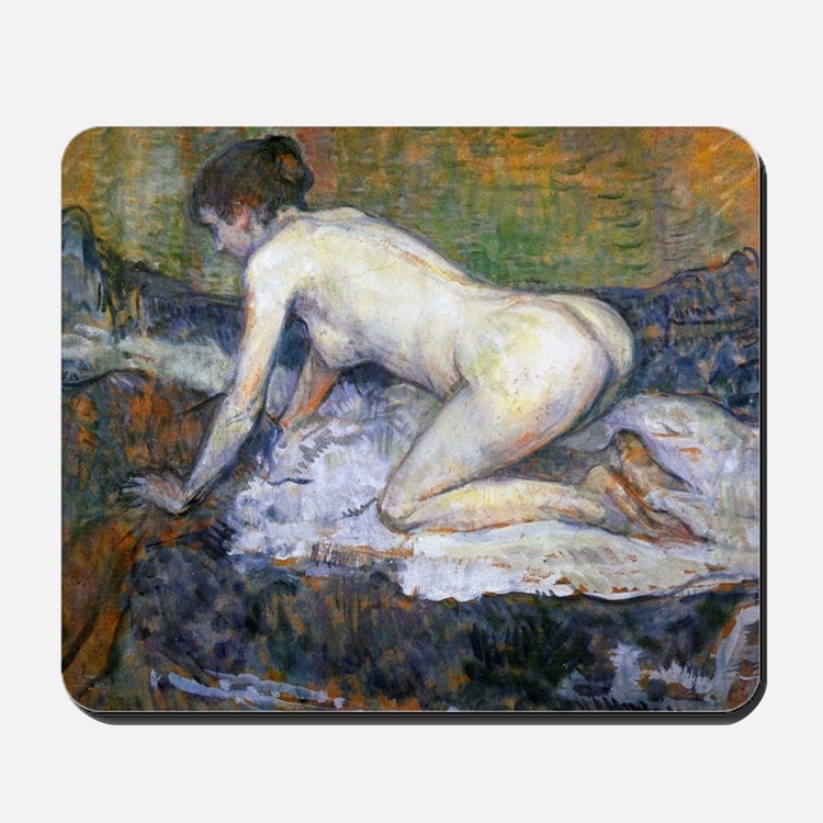 Toulouse-Lautrec Woman Naked Mousepad