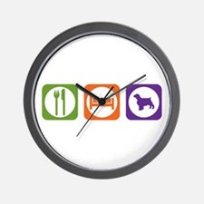 Eat Sleep Welshie Wall Clock