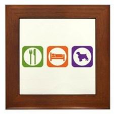Eat Sleep Welshie Framed Tile