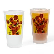 Van Gogh Fifteen Sunflowers Drinking Glass