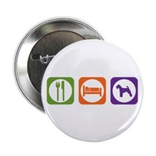 """Eat Sleep Welshie 2.25"""" Button (10 pack)"""