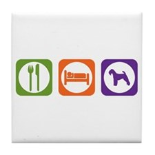 Eat Sleep Welshie Tile Coaster