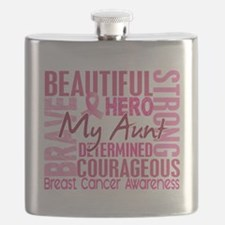 - Tribute Square Breast Cancer Flask