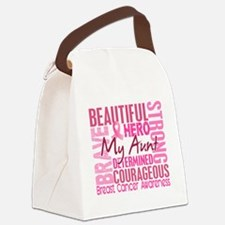 - Tribute Square Breast Cancer Canvas Lunch Bag