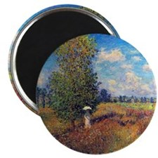 Claude Monet Poppy Field In Summer Magnet