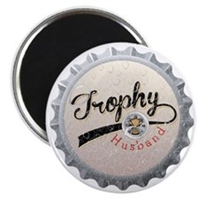 Trophy Husband Bottle Cap Magnet