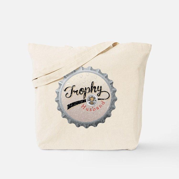 Trophy Husband Bottle Cap Tote Bag