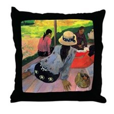 Gauguin Afternoon Quiet Hour Throw Pillow