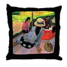 Gauguin Afternoon Quiet Hour Throw Pillow