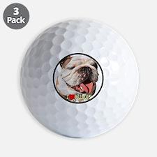 I Love Bulldogs Golf Ball