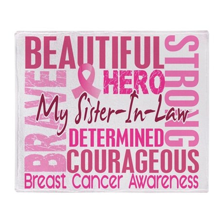 - Tribute Square Breast Cancer Throw Blanket