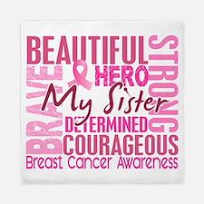 - Tribute Square Breast Cancer Queen Duvet