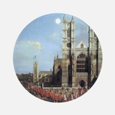 Canaletto Westminster Abbey Round Ornament
