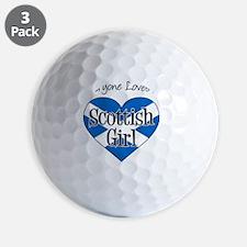Everyone Loves Scottish Girl Golf Ball