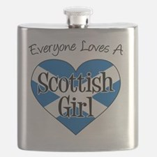 Everyone Loves Scottish Girl Flask
