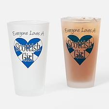 Everyone Loves Scottish Girl Drinking Glass