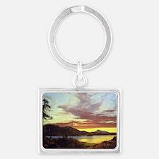 Frederick Edwin Church Sunset Landscape Keychain