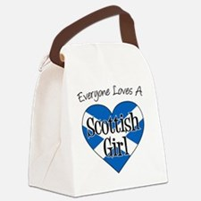 Everyone Loves Scottish Girl Canvas Lunch Bag