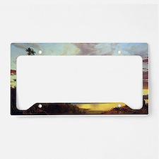 Frederick Edwin Church Sunset License Plate Holder