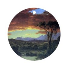 A rural home by Frederick Edwin Chu Round Ornament