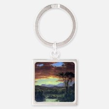 A rural home by Frederick Edwin Ch Square Keychain