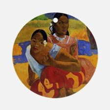 Paul Gauguin Married Round Ornament