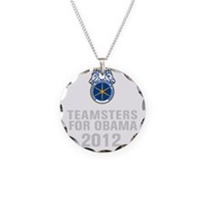 Teamsters For Obama Necklace Circle Charm