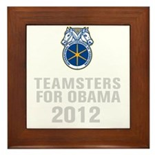 Teamsters For Obama Framed Tile