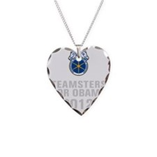 Teamsters For Obama Necklace Heart Charm