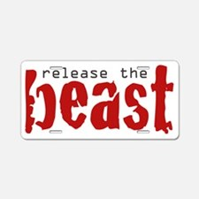 release_the_beast Aluminum License Plate