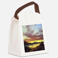 A Sunset by Frederick Edwin Churc Canvas Lunch Bag
