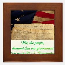 We The People Demand Framed Tile