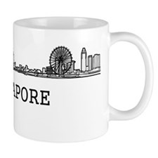 Singapore_10x10_Skyline_Capital_Black Small Mug