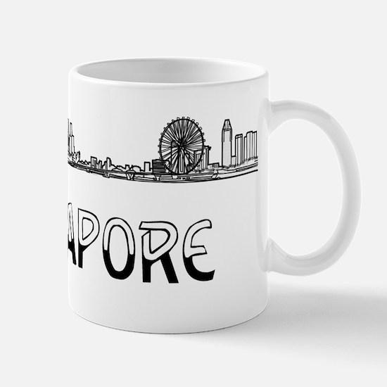Singapore_10x10_Skyline_Half_Black Mug