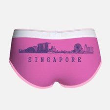 Singapore_10x10_Skyline_Wide_Blu Women's Boy Brief
