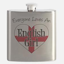Everyone Loves English Girl Flask