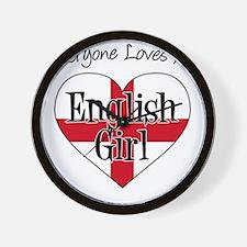 Everyone Loves English Girl Wall Clock
