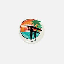 Retro Summer Time Fun Mini Button