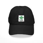 LUCKY 4 LEAF CLOVER Black Cap