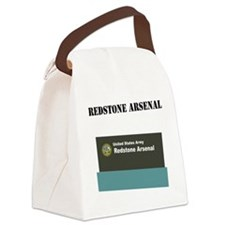 Redstone Arsenal with Text Canvas Lunch Bag