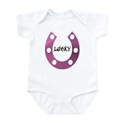 LUCKY HORSESHOE Infant Bodysuit