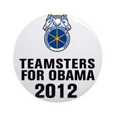 Teamsters For Obama Round Ornament
