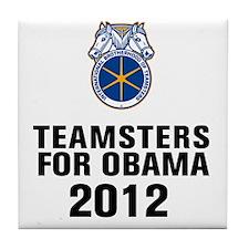 Teamsters For Obama Tile Coaster
