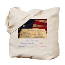 We The People Demand Tote Bag