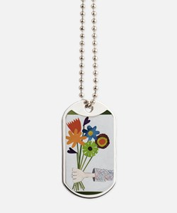Pretty Flower Delivery Dog Tags