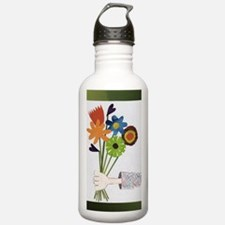 Pretty Flower Delivery Sports Water Bottle