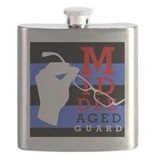 striped MAG Flask