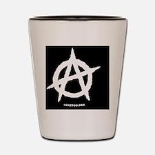 R-AnaOvalStickerBlackOnWhite-b Shot Glass