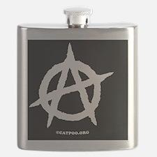 R-AnaOvalStickerBlackOnWhite-b Flask