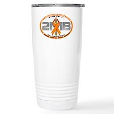 gray logo Travel Mug